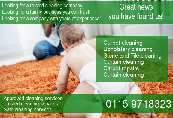Carpet cleaning in Nottingham by a trusted family business call 0115 9718323