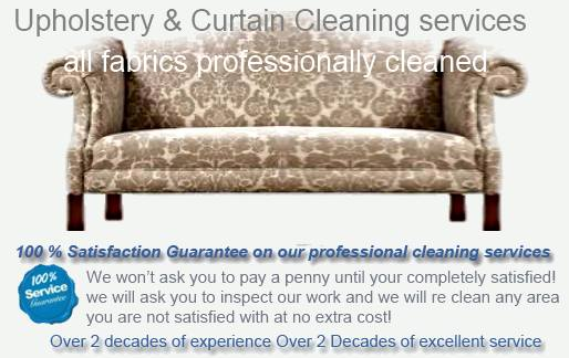 cleaning all upholstery sofa and chair fabrics